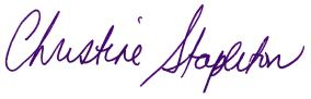Christine Stapleton Signature